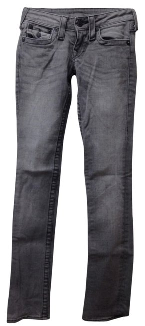 Item - Grey Light Wash Straight Leg Jeans Size 24 (0, XS)