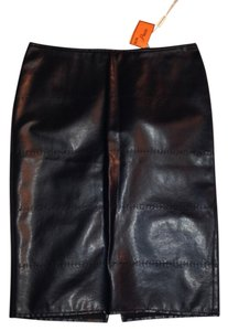 Krizia Jeans New With Tags Sexy Elegant Pencil Size 10 Skirt dark eggplant