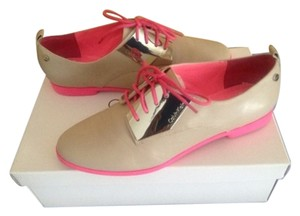 Calvin Klein Eclectic Party Oatmeal, Bright Pink, Vintage, Quirky, Fun Flats