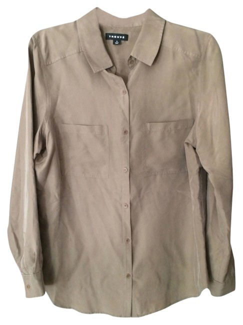 Trouvé Button Down Shirt Taupe
