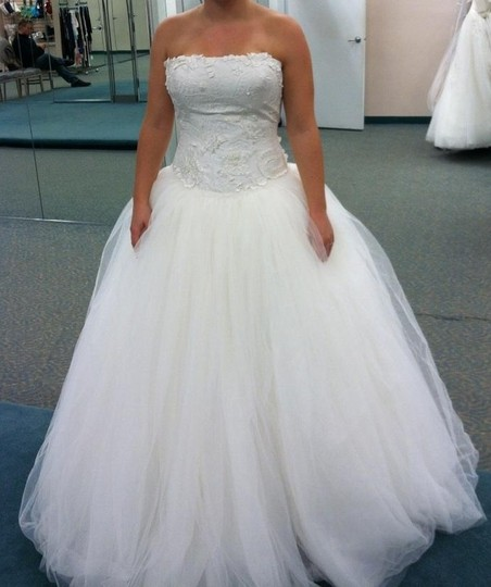 Vera Wang Tulle Ball Gown With Embroidered Taffeta Bodice