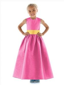 Dessy Strawberry / Mango 4024.....flower Girl / Special Occasion Dress.....strawberry....6