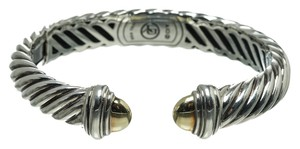 David Yurman David Yurman Sterling Silver and Gold Waverly Bracelet
