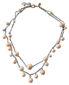 Two Strand Faux Pearl Necklace