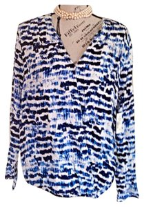 Sam & Lavi Top White & Blue