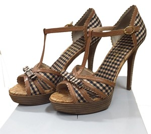 Jessica Simpson Nude/Cedar Mini Gingham Platforms