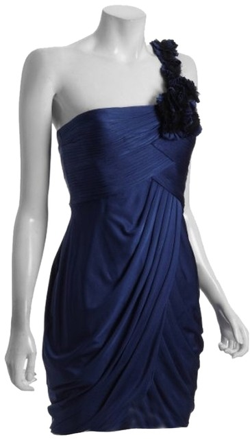 BCBGMAXAZRIA Addison Draped One Shoulder Dress