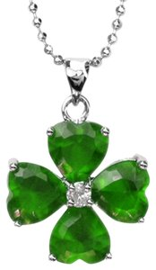 Other Pear cut green ruby necklace