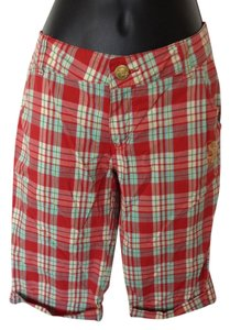 South Pole Collection Summer Bermuda Shorts Red