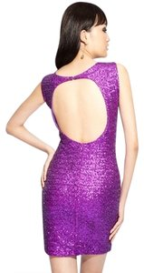 La Cite Sequin Party Coctail Mini Wedding Prom Bridesmaid Sexy Edgy 12 Large Dress