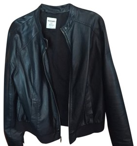 Old Navy Blac Leather Jacket