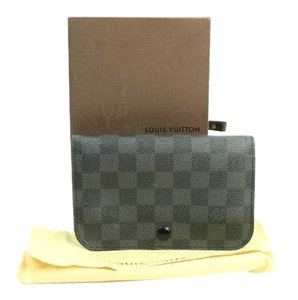 Louis Vuitton Fanny Pack Waist Pouch Clutch Black/ Gray Travel Bag
