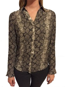 The Limited Button Down Shirt brown snake print