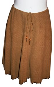 Joie Cotton Pre-owned Skirt Browns Embroidery