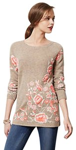 Anthropologie Embroidered Floral Tunic