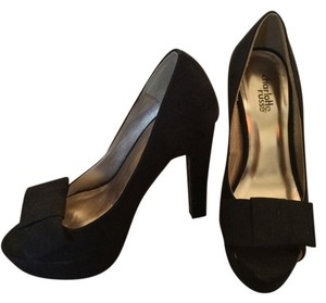 Charlotte Russe Bow Platform Black Pumps