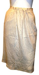 Giorgio Armani 100% Silk Made In Italy Skirt Beige