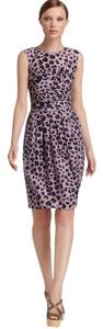 Moschino short dress Purple Leopard Animal Print Sheath Shirt on Tradesy