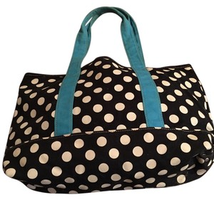 J.Crew Tote in Black, white, turquoise