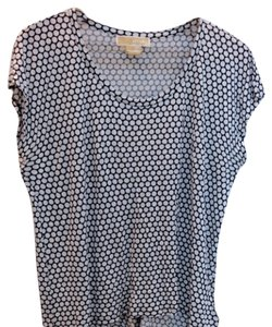 Michael Kors Polka Dot Top Blue white