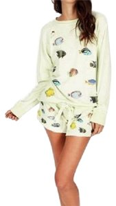 Wildfox Distressed Fish French Terry Sweatshirt