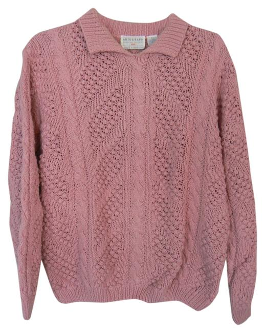 Item - Warm Cable-knit Pink Sweater
