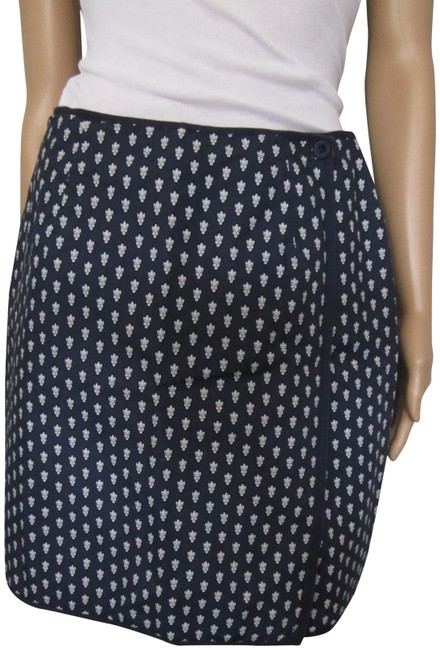 Charter Club Preppy Classic Country Club Style Skirt Navy with White design