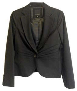 The Limited The Limited - 1 Button Ruched Black Blazer