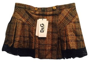 Dolce&Gabbana Mini Skirt Brown/black multi;tweed