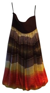 bebe short dress Brown top /multi stripe bottom on Tradesy