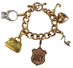 Juicy Couture Juicy Couture Charm Bracelet with 4 Retired Charms