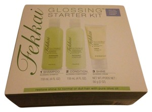 Fekkai Fekkai glossing starter kit 3 pieces set shampoo condition and shine new in box and sealed