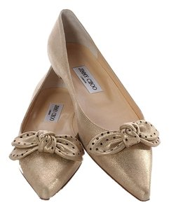 Jimmy Choo Gold Bow Jc.j0323.14 Flats