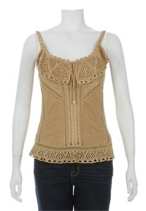 Dior Gold Lace Knit Cd.ej0408.10 Top