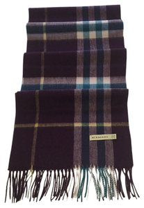 Burberry Burberry Hayat Check Unisex Cashmere Scarf Pre-Owned