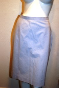 Brooks Brothers Pencil / Striped Skirt White/ Blue