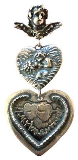 Preload https://item3.tradesy.com/images/sterling-silver-heart-and-cherub-931287-0-0.jpg?width=440&height=440