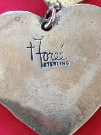 T Foree T Foree Sterling Silver Heart and Cherub