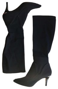 Donald J. Pliner Stretch Elastic Tall Heeled NEW black Boots