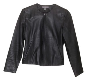 Kate Hill Leather Waist Length Leather Jacket