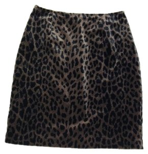 Joseph Ribkoff Skirt Leopard Black & Brown
