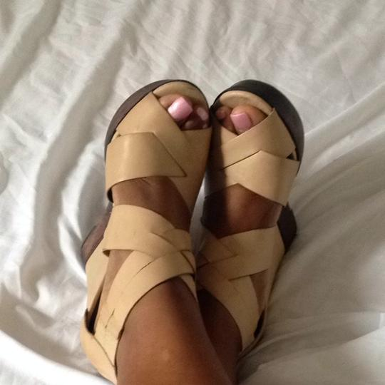 ALDO Camel Brown Wedges