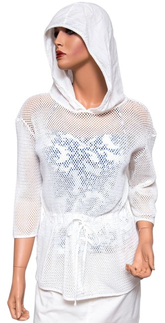 Item - White Crochet Hooded Cover-up/Sarong Size 2 (XS)