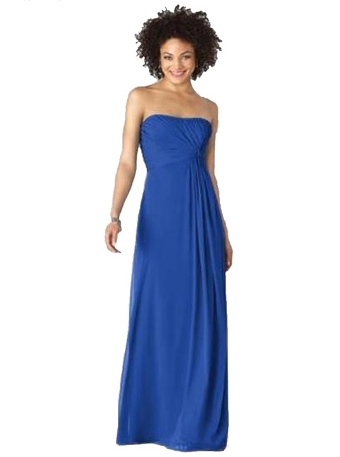 Preload https://item2.tradesy.com/images/after-six-strapless-full-length-chiffon-dress-blue-931376-0-0.jpg?width=400&height=650
