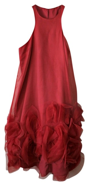 Item - Red Above Knee Cocktail Dress Size 2 (XS)
