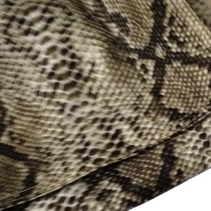 Coco & Lolly Python Print Clutch