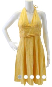 Francesca's short dress Yellow on Tradesy