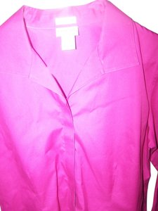 Chico's Button Down Shirt raspberry