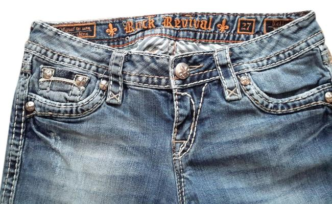 Item - Blue Distressed Kelly Boot Cut Jeans Size 27 (4, S)