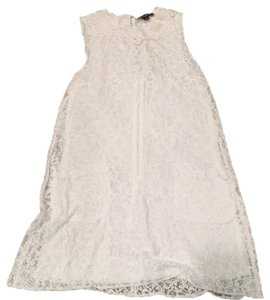 Dolce&Gabbana short dress White Lace Shift on Tradesy